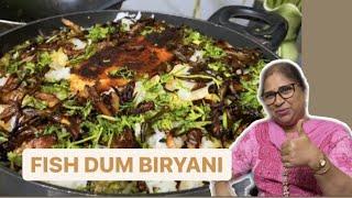 Fish Dum Biryani I Mąin Course I Recipe by Dine with Meena