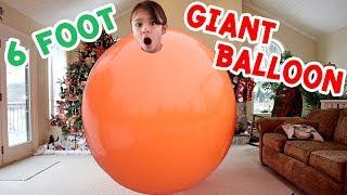 Inside a 6 Foot Giant Balloon - Huge Balloon Challenge Carries Bri Away