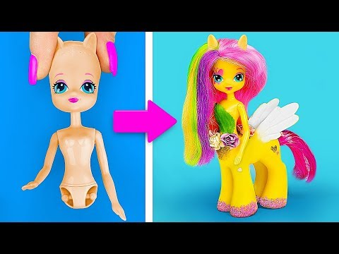 Куклы ЛОЛ против Май Литл Пони – Челлендж! / 14 лайфхаков и поделок для кукол - Видео онлайн
