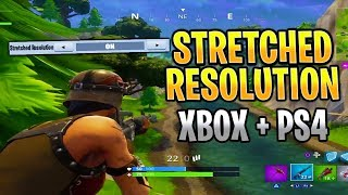 how to get stretched resolution on console proof ps4 xbox stretched resolution fortnite - how do you get stretched resolution in fortnite ps4
