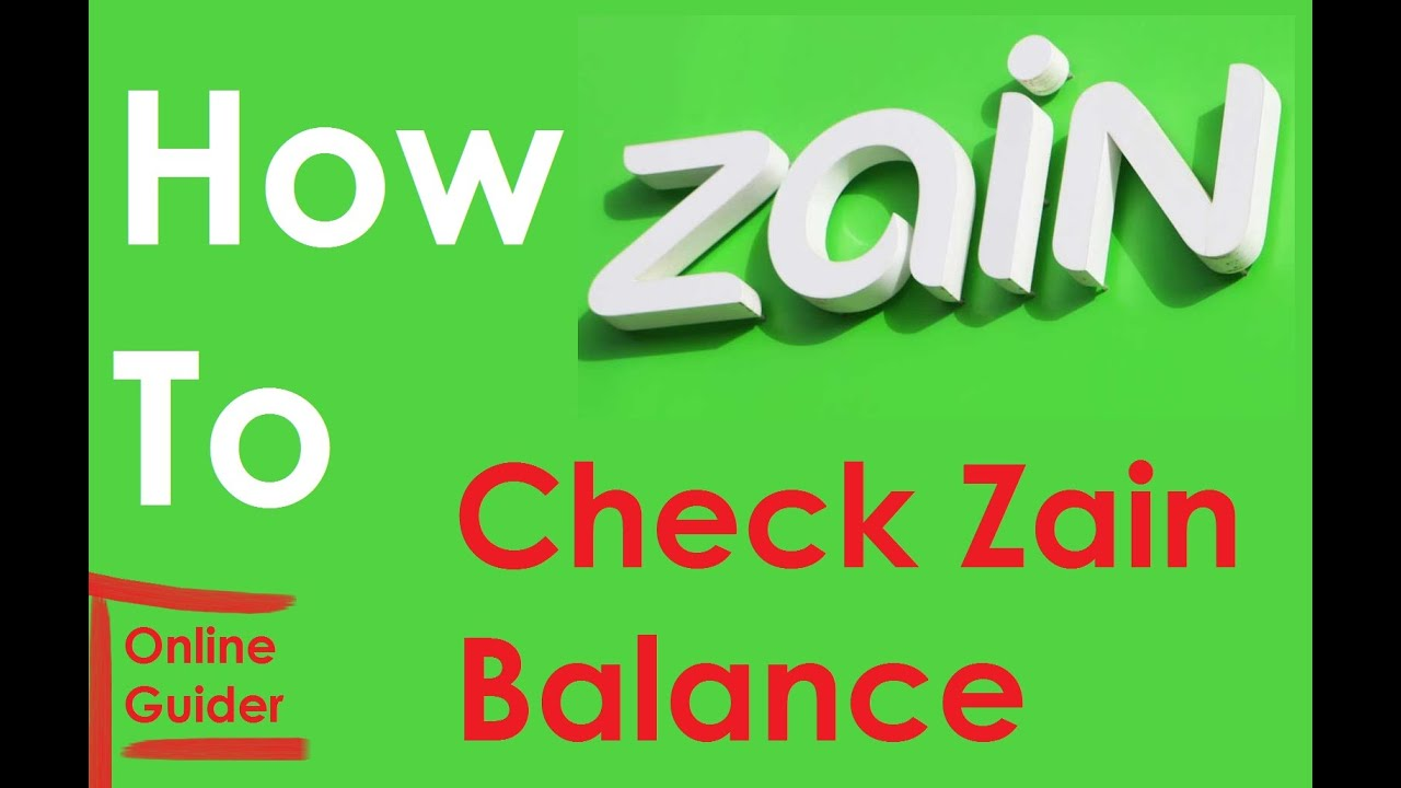 How To Check Zain Remaining Balance Youtube