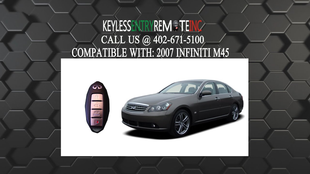 How to replace infiniti m45 key fob battery 2007 youtube vanachro Gallery