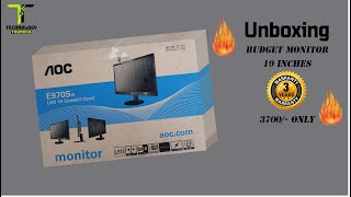 UNBOXING - AOC E970Sw Led Monitor - 19 inch 47 0 cm - Budget Monitor - Low Power Consumption