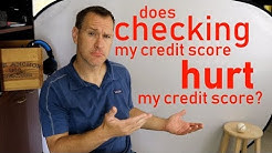 Does Checking My Credit Score Hurt My Score?