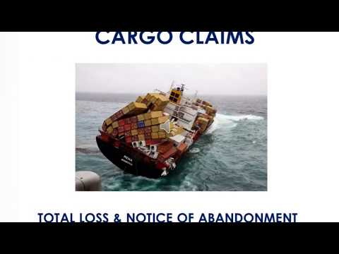 Cargo Claims in Marine Insurance: Total Loss & Notice of Abandonment