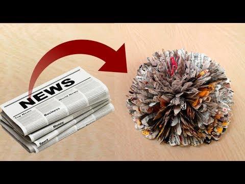 News Paper Flower - Best out of waste || DIY News paper craft idea || SUNIL CREATION