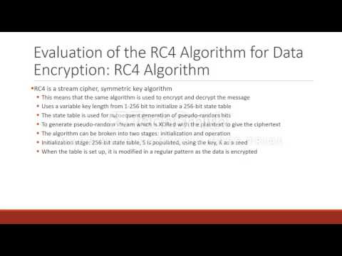 [CSC487] Evaluation of the RC4 Algorithm for Data Encryption