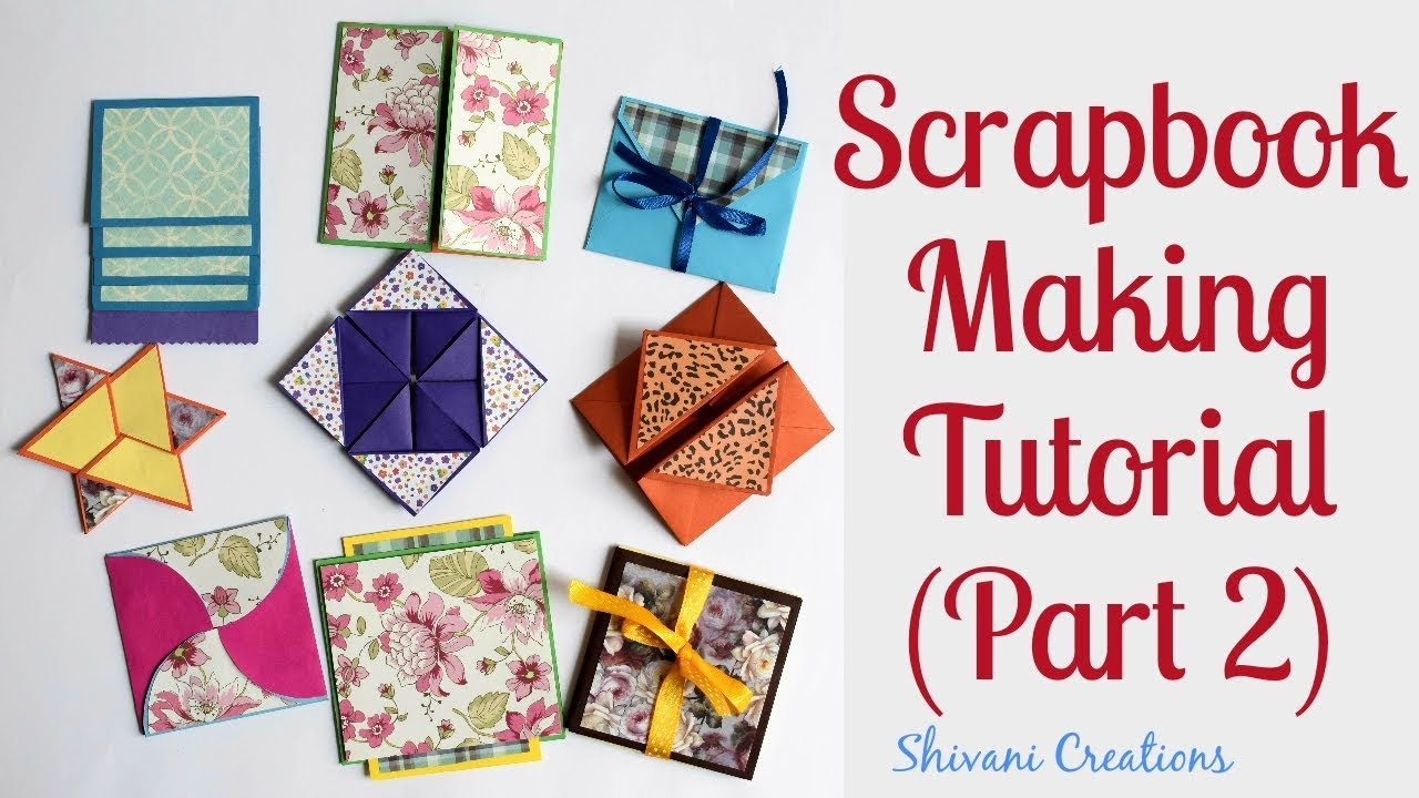 how to make scrapbook pages 9 different cards ideas diy scrapbook
