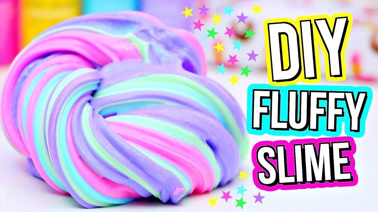 Slime Poking & How To Make Fluffy Slime
