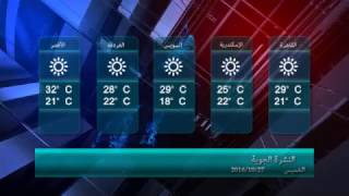 طقس اليوم معتدل على شمال البلاد وتوقعات بسقوط أمطار على القاهرة