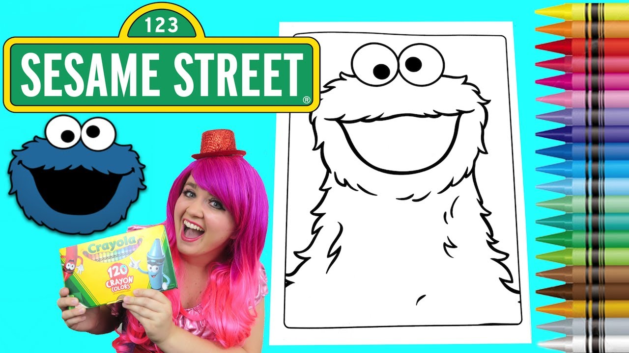- Coloring Cookie Monster Sesame Street Coloring Book Page Crayola