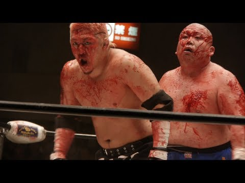 Chewing GLASS! Worlds BLOODIEST Wrestling from Japan  -by ADEYTO