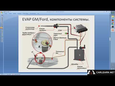 видео: evap система gm/ford, устройство, особенности, диагностика.