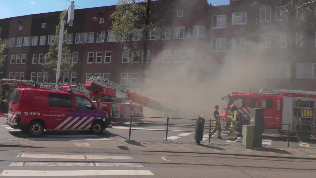Zeer Grote Brand In Bakkerij Hoofddorpplein Amsterdam