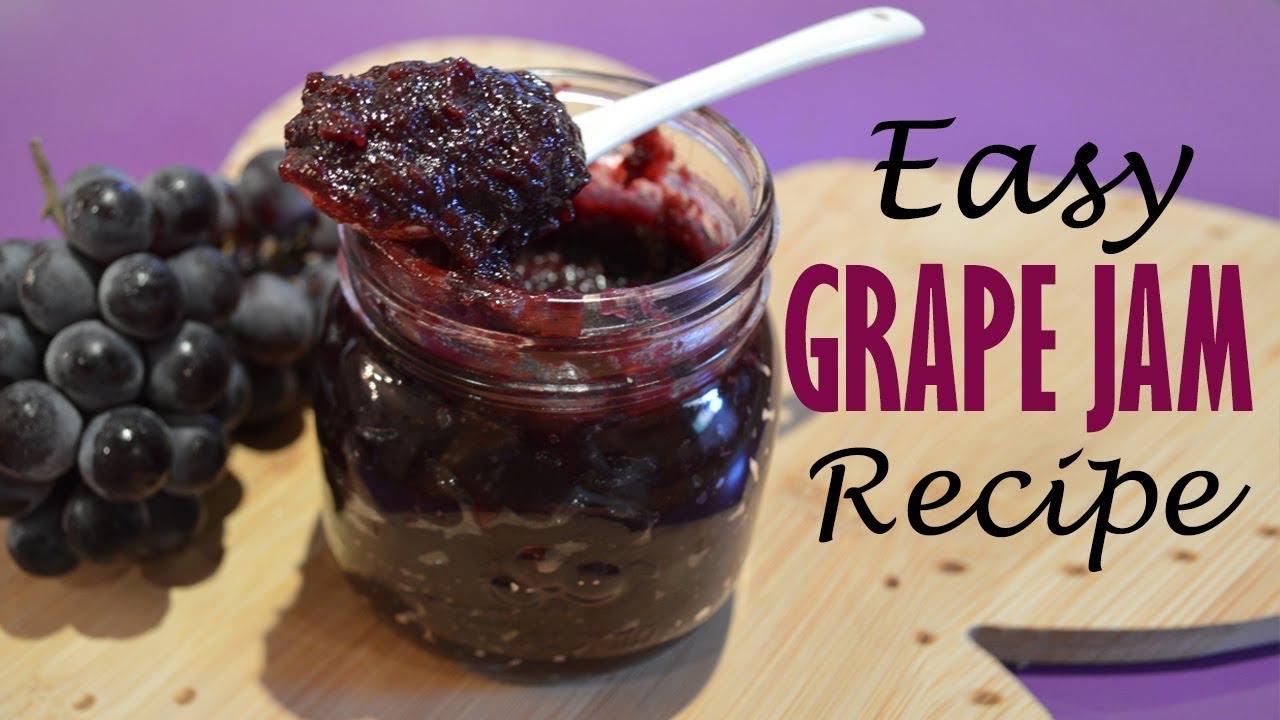 Homemade Grape Jam Recipe Easy Low