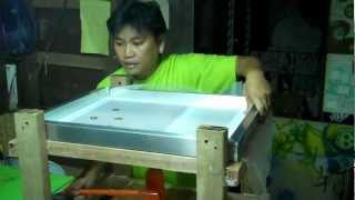 SILK SCREEN STRETCHING DEVICE- the making