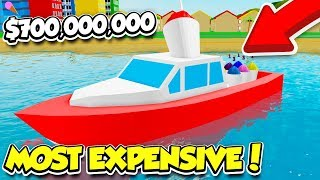 BUYING THE $700,000,000 BOAT IN ICE CREAM VAN SIMULATOR!! *SO OVERPOWERED* (Roblox)