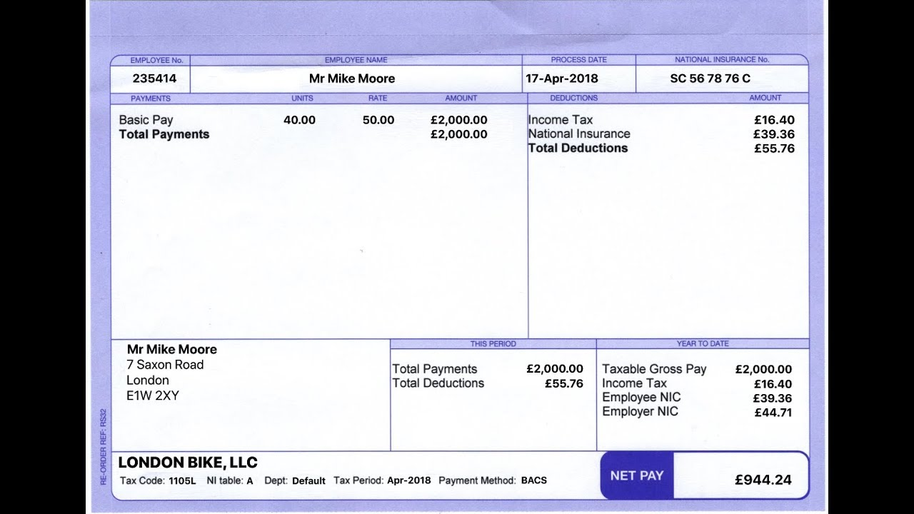 How to make UK Paystub Maker Payslip Paycheck for free