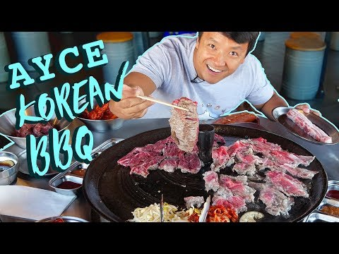 All You Can Eat KOREAN BBQ FEAST in New York! Cast Iron BBQ