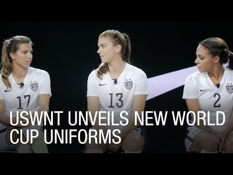 Alex Morgan, Sydeny Leroux and Tobin Heath Unveil New World Cup Uniforms