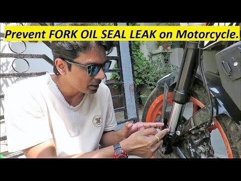 Prevent FORK OIL SEAL LEAK on Motorcycle.