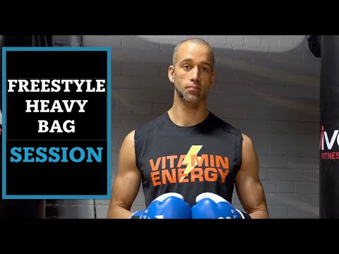 30 Minute Freestyle Heavy Bag Boxing Workout | Slip And Counter