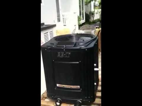 Quiet Swimming Pool Heat Pump Superquiet Aquacal Heat Pumps Vs Jandy Unit Youtube