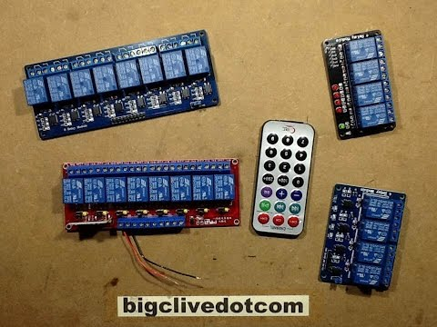 Infra red remote control relay module.