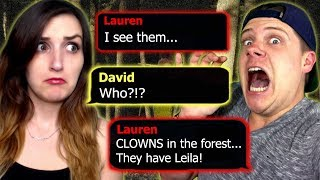 SEQUEL TO THE CLOWNS?! | Reading Horror Text Chat Stories With My Husband