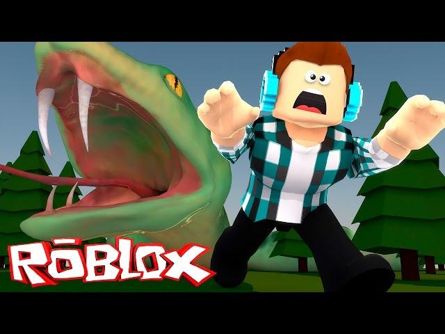 Roblox Fuja Da Cobra Gigante Youtube
