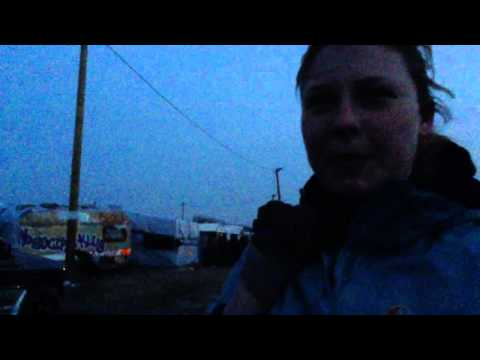 Distributing aid in The Jungle in Calais February 2016