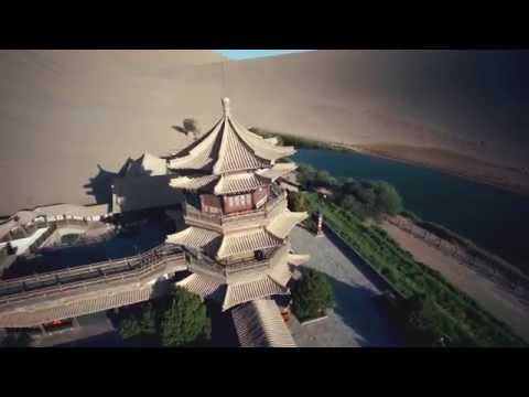 Aerial Photography/Video in Crescent Lake, Dunhuang, Gansu Province