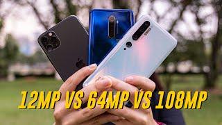 iPhone 11 Pro Max vs Realme X2 Pro vs Xiaomi Mi Note 10 | Camera Comparison