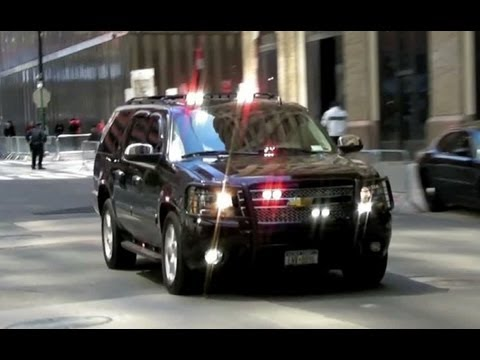 Secret Service And Nypd Unmarked Police Vehicles Youtube