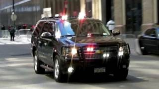 Secret Service and NYPD Unmarked Police Vehicles