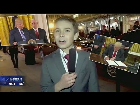 Young reporter for Trump Inauguration