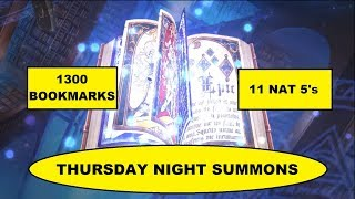 THURSDAY N GHT SUMMONS   CRAZY DAY 1300 BOOKMARKS AND 11 NAT 5S