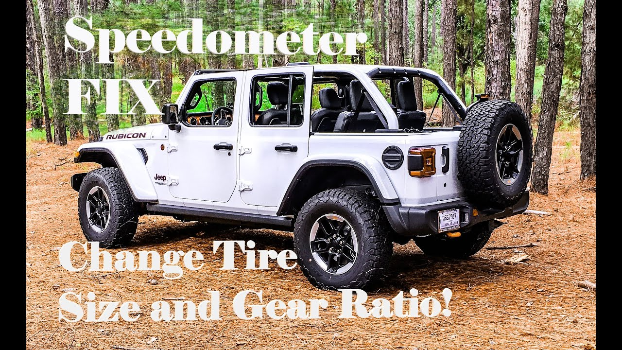 Jeep JL Speedometer FIX, TPMS Fix, Recalibrate, Change Tire Size and Change  Gear Ratio
