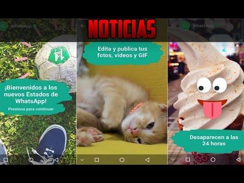 Whatsapp Status O Estados Actualización De Whatsapp Youtube