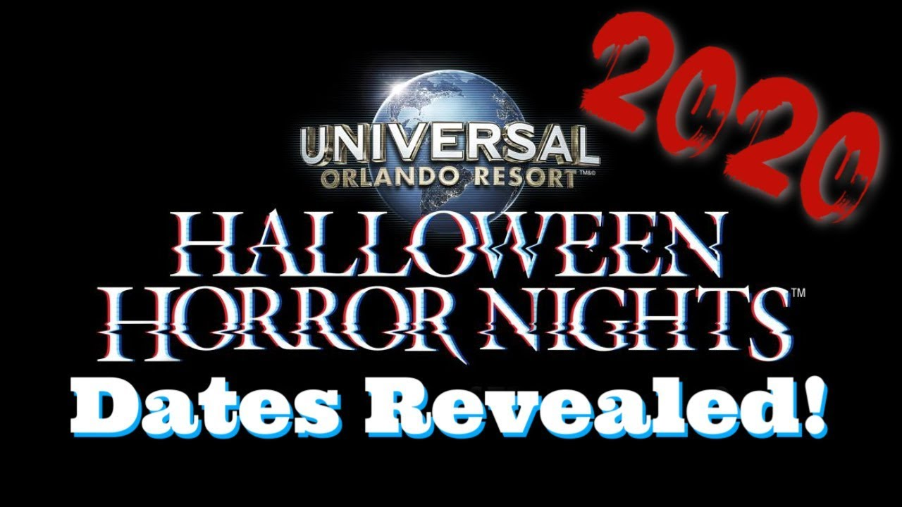 Universal Halloween 2020 Halloween Horror Nights 2020 Dates Revealed | HHN 30 Rumors