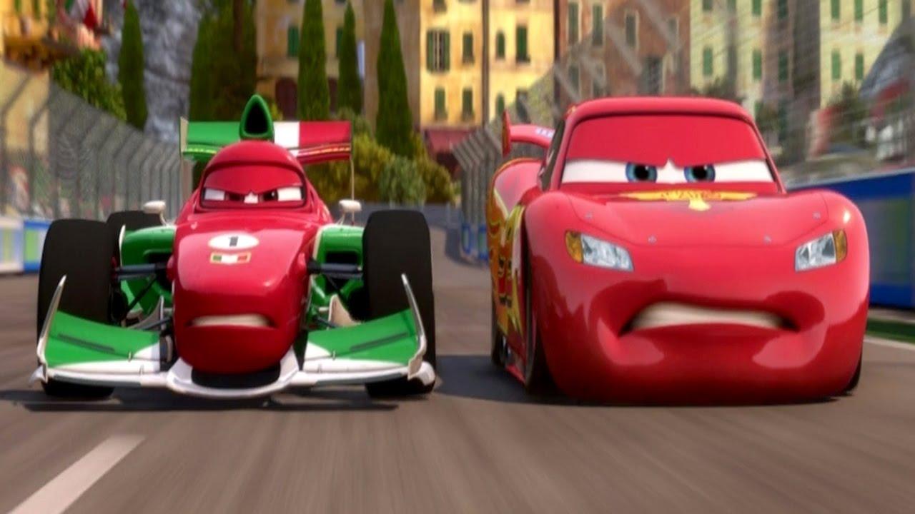 Cars  Lightning Mcqueen Vs Francesco Bernoulli Race