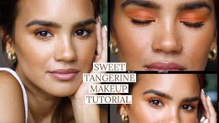 Summer Tangerine Makeup Tutorial | Dacey Cash