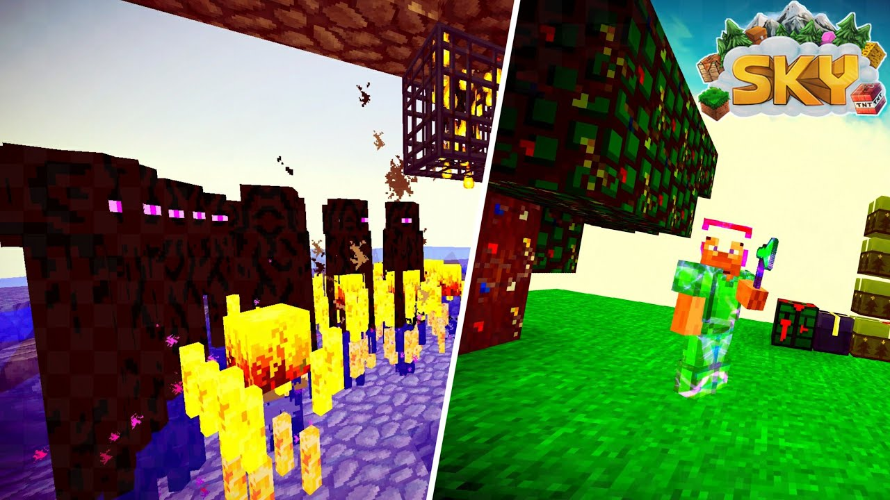 *OUR NEW MOB GRINDER* Minecraft PE Skyblock   Factions ?Server Let #39 s Play#3 MCPE SKYCLAN YouTube