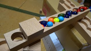 Marble Run ASMR ☆ Undulating handmade wooden course ☆ Never give up again and again
