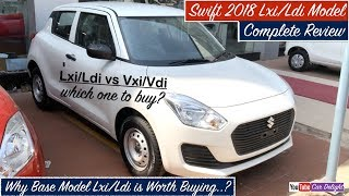 Swift 2018 Lxi,Ldi Base Model interior,Exterior| New Swift 2018 Lxi,Ldi Interior,Features and Review