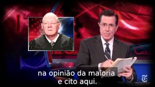Stephen Colbert deixa o personagem