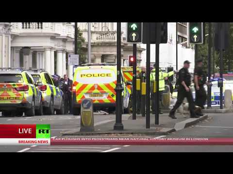 Car 'ploughs into pedestrians' outside London museum, 11 injured