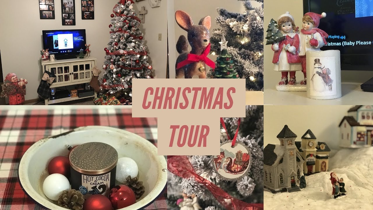 christmas apartment tour 2017 retro and vintage farmhouse christmas decor - Vintage Farmhouse Christmas Decor