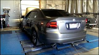 08 Acura TL Type S Loudest DYNO AMAZING HP!! XLR8 Exhaust