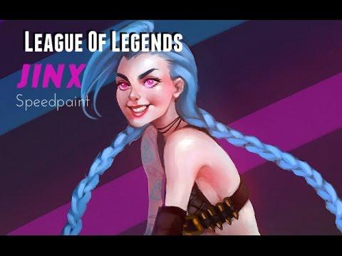 League Of Legends (Jinx) - Speedpaint [Corel Painter Essentials 5]